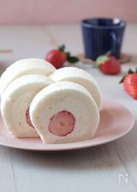 『真っ白な米粉ロールケーキ【小麦アレルギー対応】』