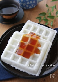 『お餅アレンジ*レンジでトロ〜リみたらし餡♡モッフル』