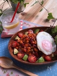 お豆の彩りヘルシータコライス〜サラダに!まめ&コーン〜