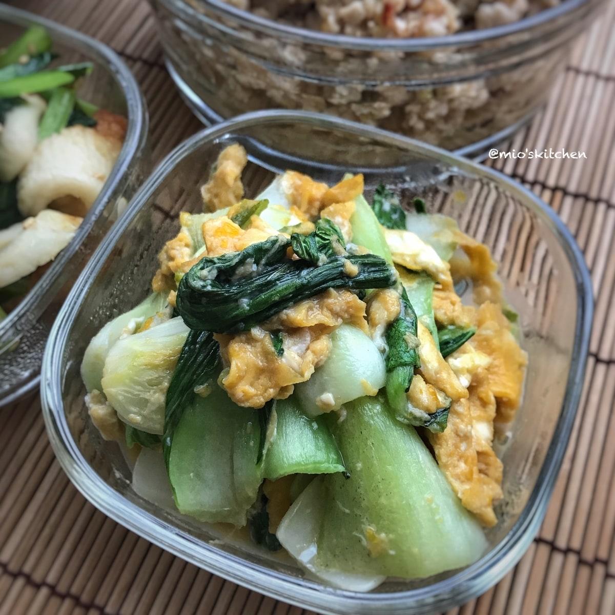 味付け2つde簡単♡激うま♡チンゲン菜と卵の中華炒め♡