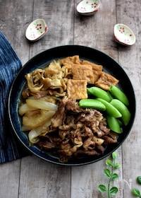 『厚揚げで野菜もたっぷり肉豆腐風』