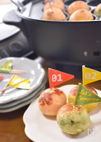 『<BRUNO>熱々ころころ♡チーズとろぉり3色じゃが芋団子♡』