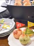 <BRUNO>熱々ころころ♡チーズとろぉり3色じゃが芋団子♡