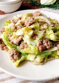 『春キャベツと豚ひき肉の醤油炒め』