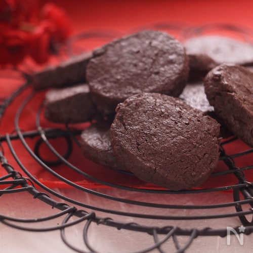 新食感*ほろ苦チョコレートクッキー*