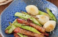 スタミナおつまみ!ベーコンと大蒜アスパラのペペロン風ペッパー