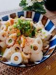 めっちゃ簡単ヘルシー美味♡豆腐とちくわの揚げ玉入りレンチン煮