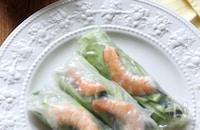 夏に食べたい!えび生春巻き&ピリ辛ダレ