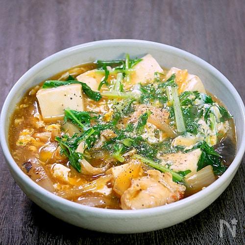 鶏肉あんかけ豆腐