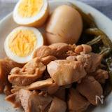 【鶏もも肉とゆで卵の味ぽん煮】酸味が効いて箸が止まらない😋