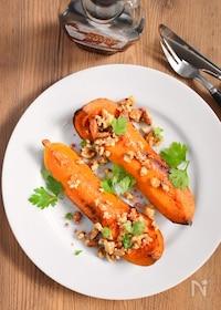 『野菜でご馳走!メープルナッツかぼちゃソテー』