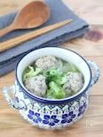 食べるスープ♪春キャベツと生姜団子の春雨入りみそ汁