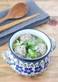 『食べるスープ♪春キャベツと生姜団子の春雨入りみそ汁』