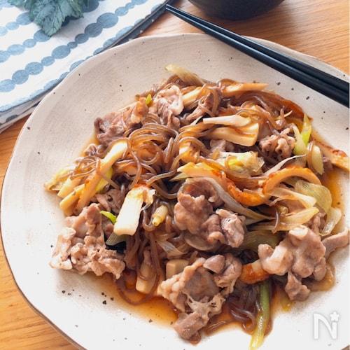 まさにすき焼き❗️激旨節約レシピ♡糸こんメインのすき焼き風