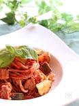 旨みたっぷり♡ズッキーニのトマトパスタ