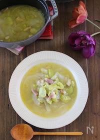 『じんわり旨い♪春を味わうソラマメと新玉ねぎのシンプルスープ』