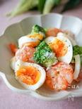 ゆで卵でボリュームアップ♡ぷりぷりえびマヨサラダ♪