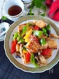 【厚揚げで4人分主菜】厚揚げとパプリカのコク旨しょうゆ炒め
