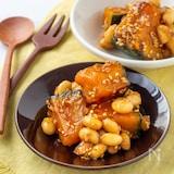 お弁当にもおすすめ!かぼちゃと大豆の甘辛炒め