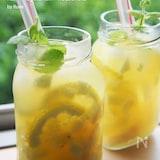 デトックス♪ピーチ&パイン&レモンジャー炭酸ジュース