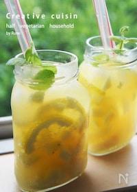 『デトックス♪ピーチ&パイン&レモンジャー炭酸ジュース』