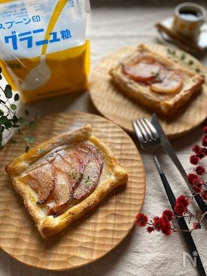 ポモドーロに合う簡単スイーツリンゴとクリームチーズのパイ