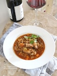 豚肉とレンズ豆のミネストローネ風
