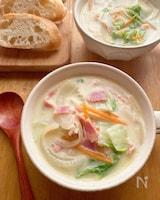ほっこりやさしい生姜豆乳スープ