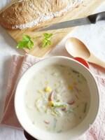 和風豆乳クリームスープ(お手軽レシピ)