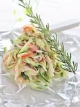 カニカマきゅうりとツナのサラダ