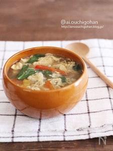 冷蔵庫にあるものでれんこんのとろみたまごのジンジャースープ♡