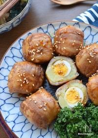『焼くまで3分♡味付け1つ♡うずらの卵in肉巻きポテト♡』