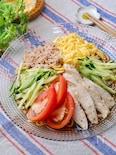 『サラダチキンとツナの冷やし中華』簡単冷やし中華のたれ☆