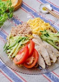 『『サラダチキンとツナの冷やし中華』簡単冷やし中華のたれ☆』