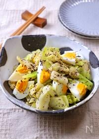 『簡単副菜♡箸休めにぴったり『キャベツと卵のゆかり和え』』