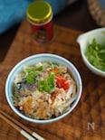 おこげ保証♡『サバとトマトのちょっぴり韓国風炊き込みご飯』