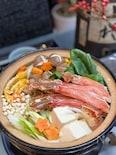 いつもの鍋を本格料亭風♡簡単✨出汁から作る蟹すき鍋