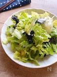 3分で簡単♪レタスと海苔のさっぱりサラダ