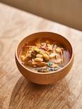 大豆とキムチのチゲスープ