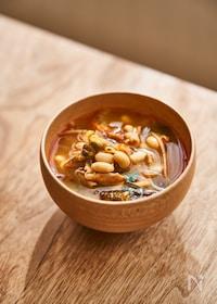 『大豆とキムチのチゲスープ』
