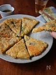 ニラ海苔チーズチヂミ
