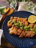 丸ごとジュ~シ~♪鶏もも肉の一枚揚げ(油淋鶏&カレーマヨ)