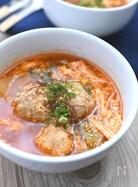 鶏団子と白菜の辛うま韓国風スープ