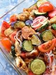 悶絶♡私自慢の夏野菜と鶏胸肉の南蛮漬け♡