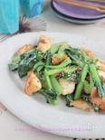 小松菜とちぎりはんぺんのアンチョビ醤油炒め