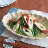 簡単和総菜◎小松菜とちくわのさっぱり塩炒め
