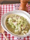 とろとろキャベツとベーコンのスープ