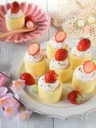 市販品で手軽に♪イチゴクリームのロールケーキ