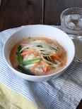 カット野菜を使って簡単☆電子レンジで豆乳スンドゥブチゲ