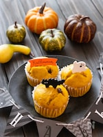 フライパンで作れる!かぼちゃと小豆のふっくら蒸しパン